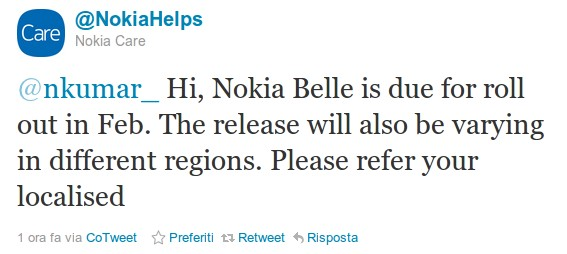 Nokia Care - Nokia Belle
