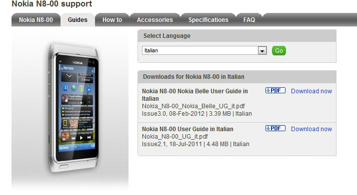 disponibile il manuale utente in italiano del nokia n8 con nokia rh nokioteca net Nokia N95 Nokia E7