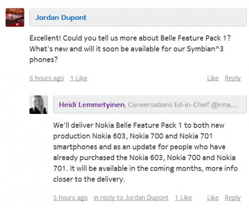 Nokia Belle 2.1 Update