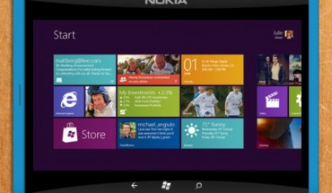 Concept di Nokia Tablet con Windows 8