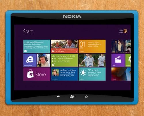 Concept di Nokia Tablet con Windows 8
