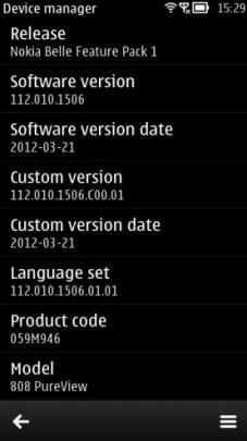 Nokia 808 fw 112.010.1506