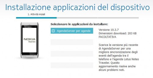 Software Update AgendaServer per Nokia Belle