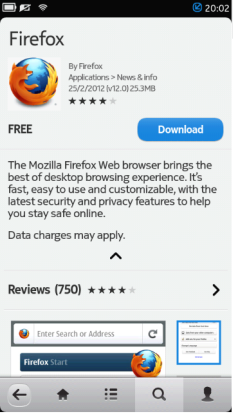 Firefox  N9 v12.0