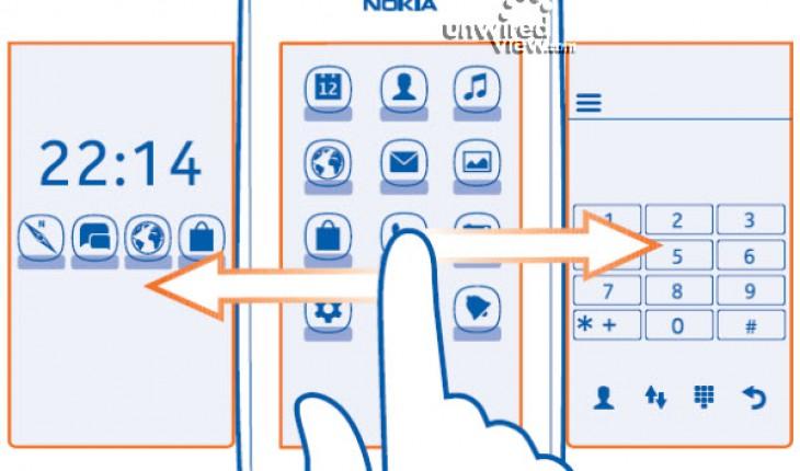 Nokia 306 home screen