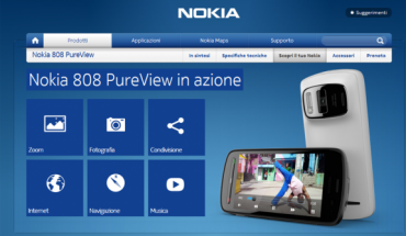 Nokia 808 PureView web page
