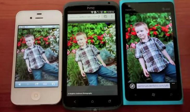 Nokia Lumia 900 vs iPhone 4S e HTC One X