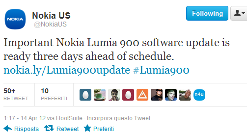 Nokia US Lumia 900 update