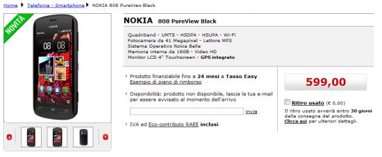 Nokia 808 PureView su MediaWorld