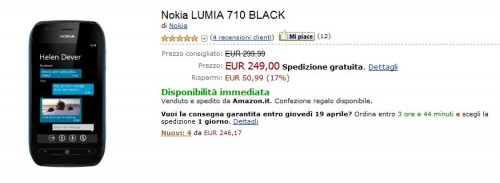 Nokia Lumia 710 su Amazon