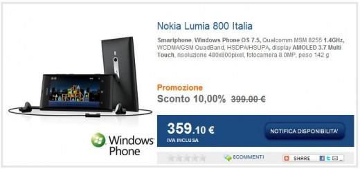 Nokia Lumia 800 su MarcoPolo