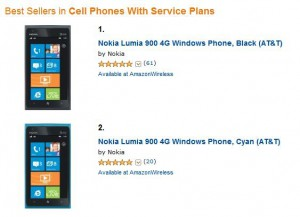 Nokia Lumia 900 BestSeller su Amazon