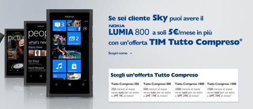 Offerta TIM Nokia Lumia 800