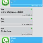 Wazapp Schermata Conversazione