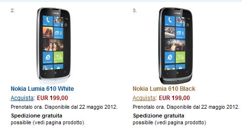Lumia 610 Amazon.it