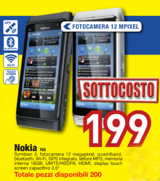 Nokia N8 promo 199 Euro