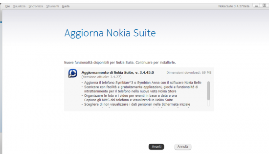 Nokia Suite Beta 3.4.45