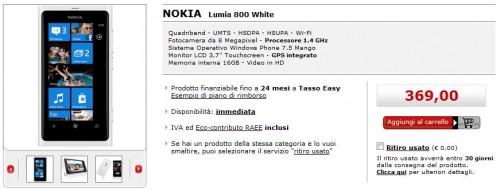 Nokia Lumia 800 su MediaWorld