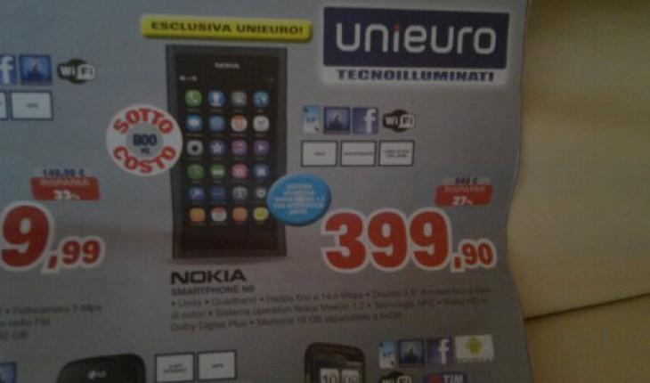 Nokia N9 su Unieuro