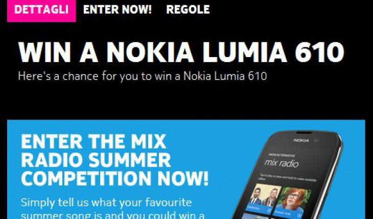 Vinci un Nokia Lumia 610