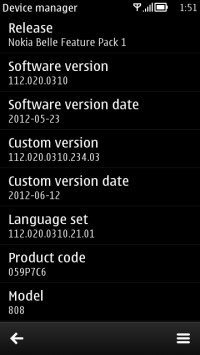 Nokia 808 PureView firmware 112.020.0310
