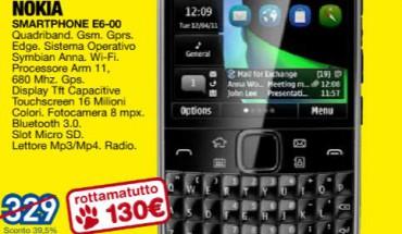 Nokia E6 in offerta da Euronics