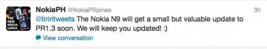 Tweet Nokia Pilipinas PR 1.3