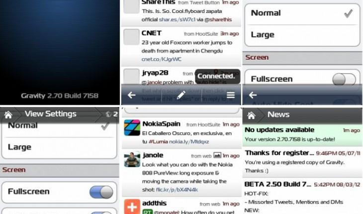 Gravity per Symbian v2.70.7158