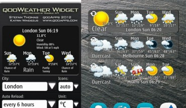qooWeather Widget