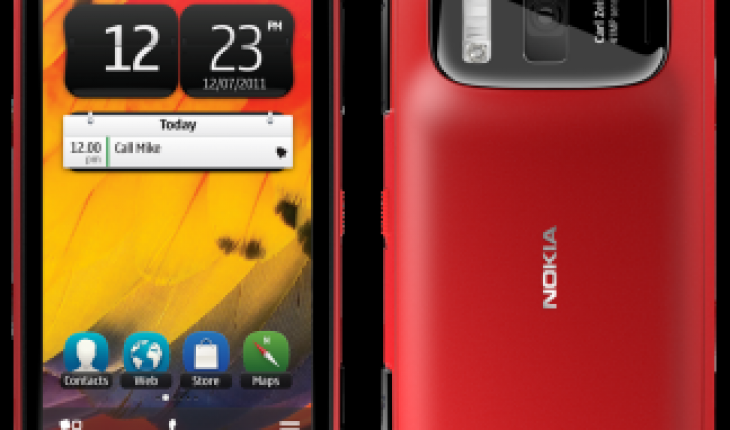 Nokia 808 red