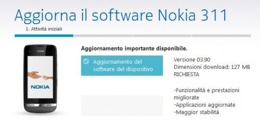 Nokia Asha 311 update firmware 3.90