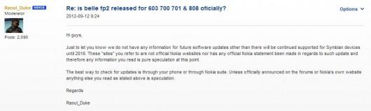 Nokia Belle Updates