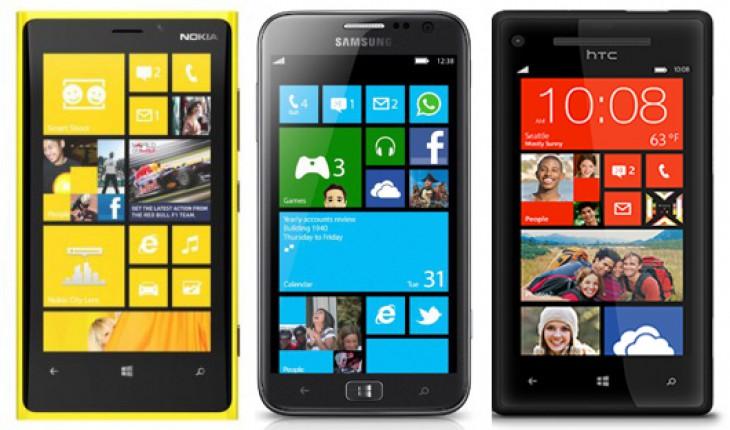 Nokia Lumia 920 - Samsung ATIV S - HTC 8X