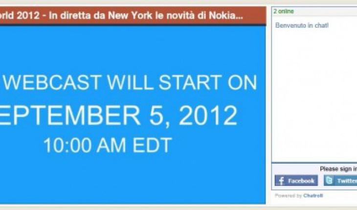 Webcast da NewYork