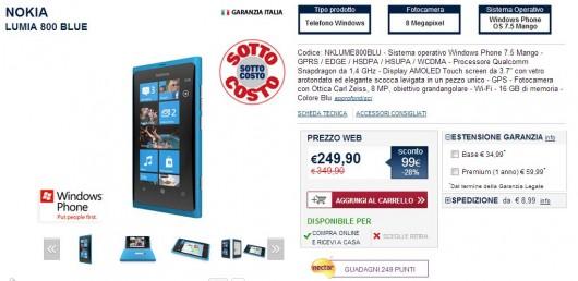 Nokia Lumia 800 - Offerta Unieuro