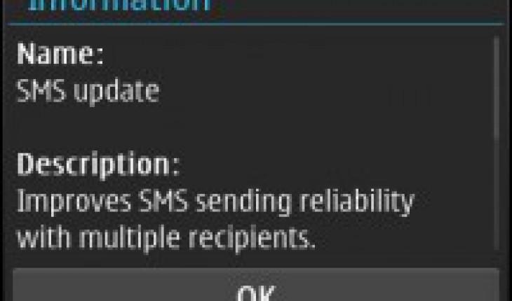 SMS Update