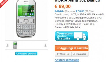 Asha 302 offerta