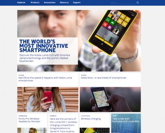 Nokia web site