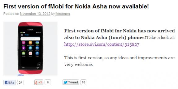 fMobi per Nokia Asha