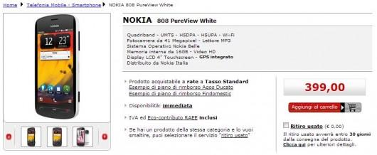 Nokia 808 in offerta