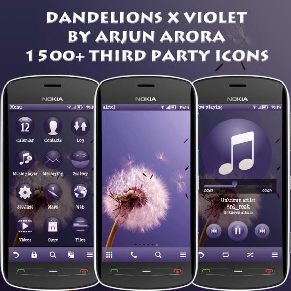Dandelions X Violet by Arjun Arora