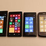 Nokia Lumia 900, Nokia Lumia 820, Nokia Lumia 800 e Nokia Lumia 610