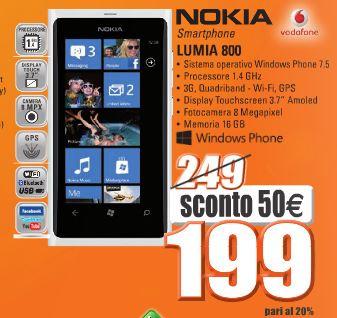 Nokia Lumia 800 a 199 Euro da Marco Polo Expert