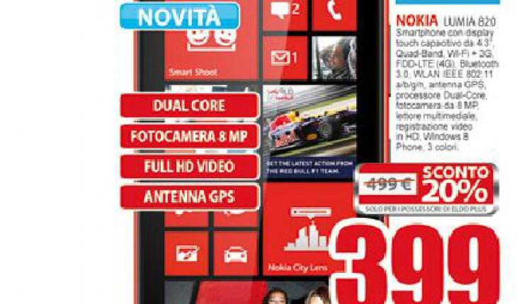 Nokia Lumia 820 su Eldo