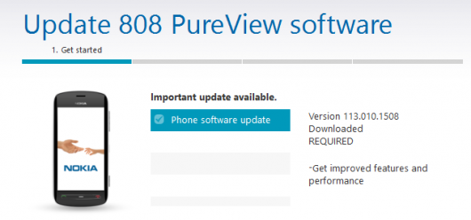 Nokia 808 PureView update v131.010.1508