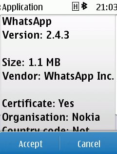WhatsApp v2.4.3 per S40