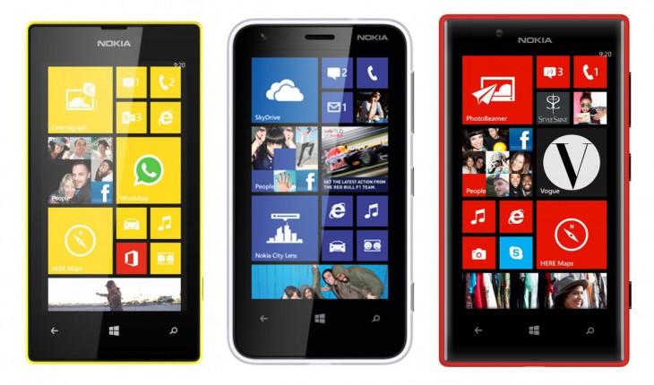 Nokia Lumia 520 – Nokia Lumia 620 – Nokia Lumia720
