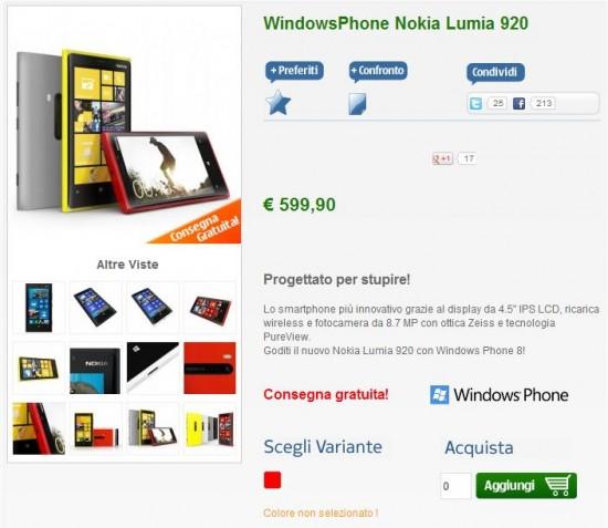 Nokia Lumia 920 Rosso