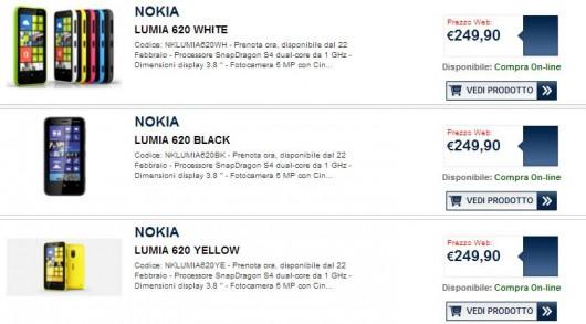 Nokia Lumia 620 - Offerta Unieuro