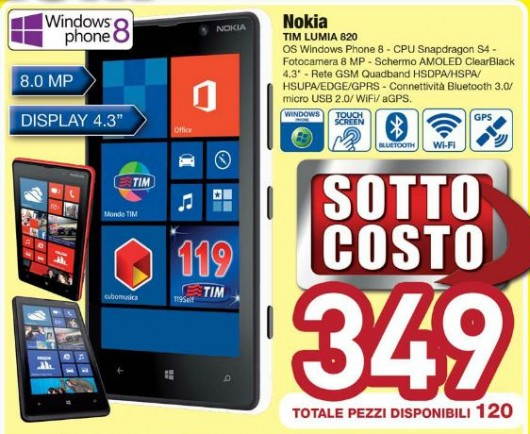 Nokia Lumia 820 TIM in Offerta